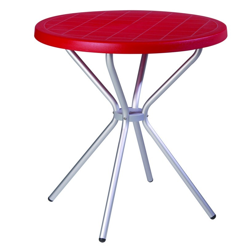 Round Dining Table Red ISP710