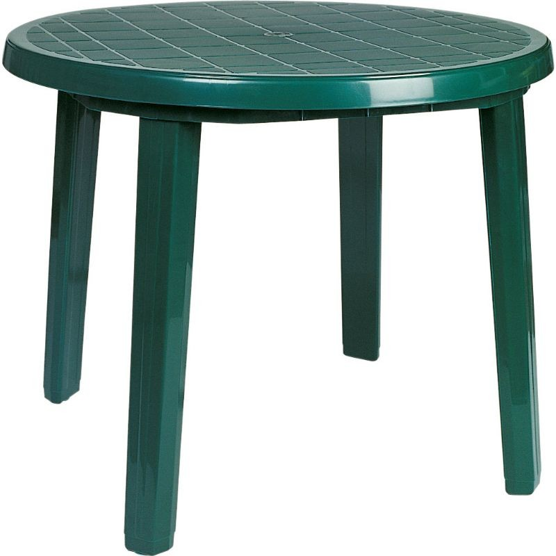 "Ronda Resin Round Dining Table 35"" Green"