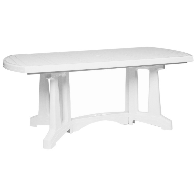 Sunrise Oblong Resin Dining Table