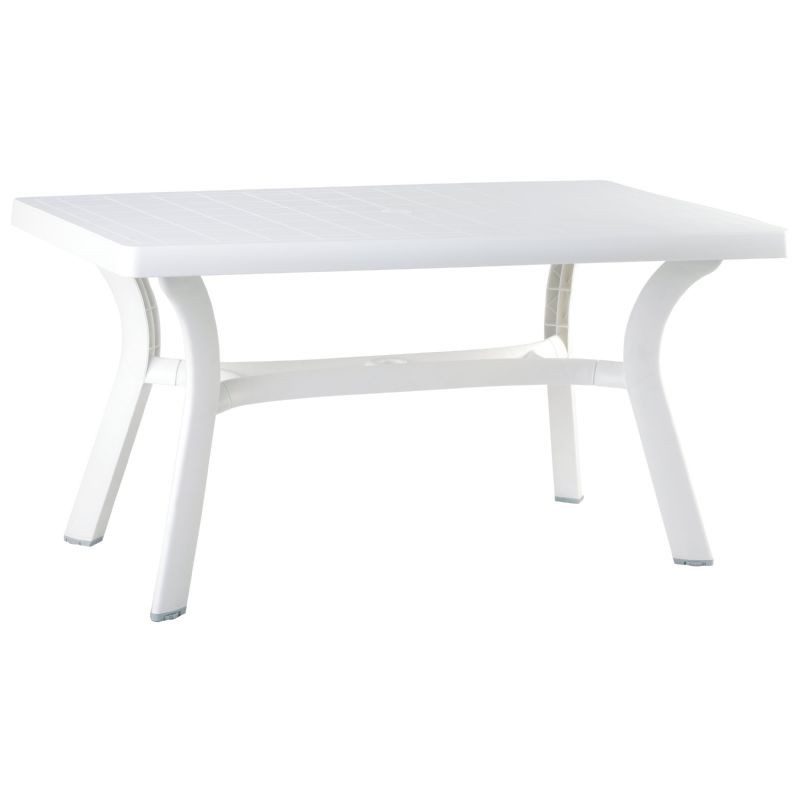 "Sunrise Rectangle Table 55"" : White Patio Furniture"