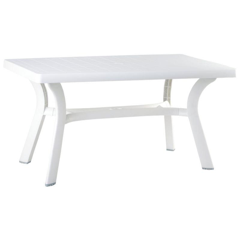 Plastic Dining Tables Siesta Sunrise Rectangle Plastic Dining Table