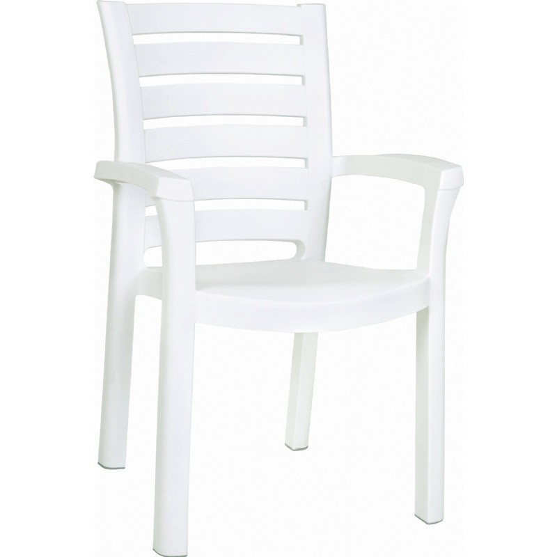 White Stackable Plastic Chairs