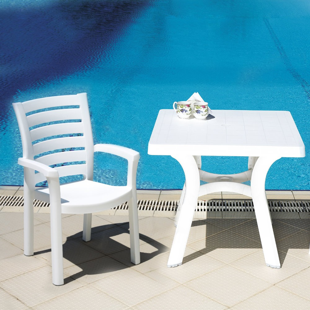 Sunshine Marina Resin Dining Set with Square Table 5 piece
