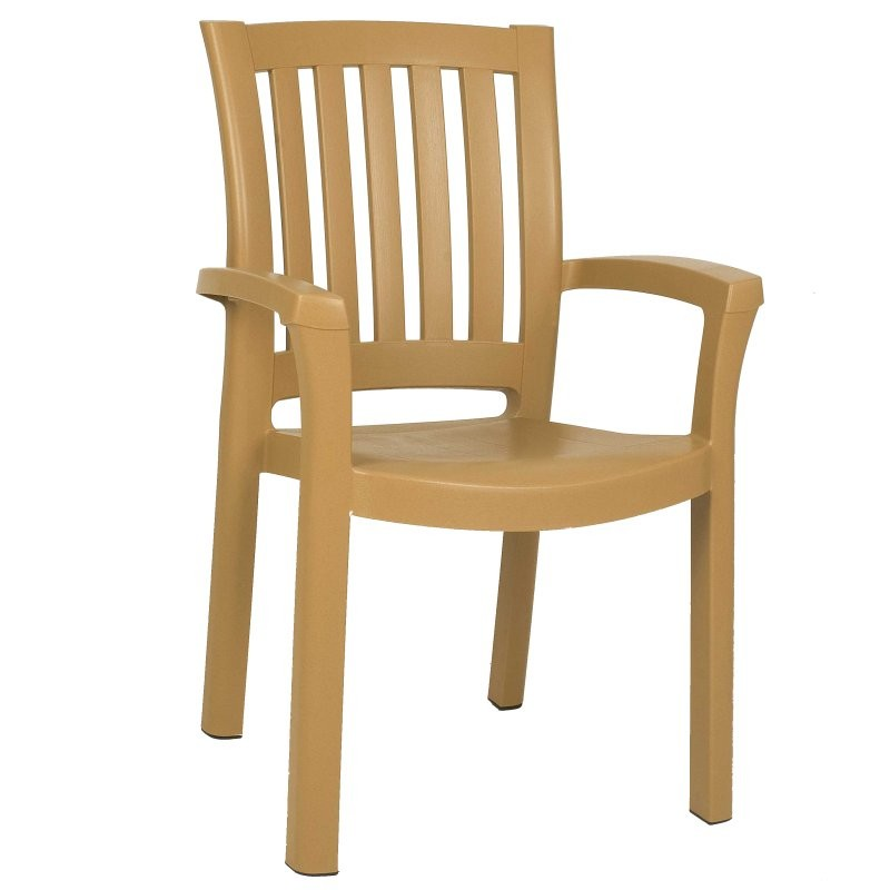 Siesta Sunshine Stackable Plastic Outdoor Dining Chair Brown ISP015 Outdoor