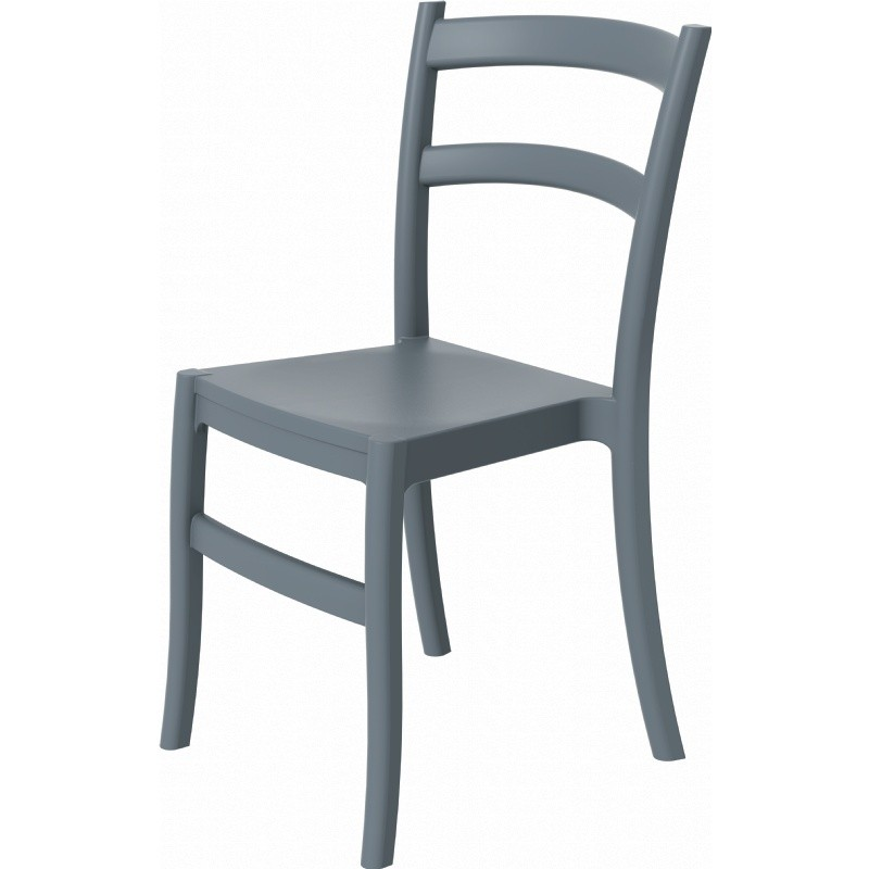 Tiffany Cafe Outdoor Dining Chair Dark Grey alternative photo #1