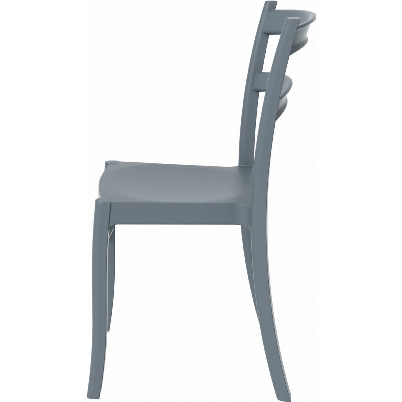 Tiffany Cafe Outdoor Dining Chair Dark Grey alternative photo #2