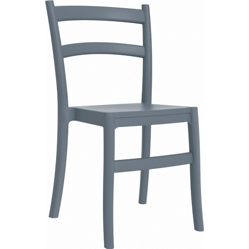 Tiffany Cafe Outdoor Dining Chair Dark Grey