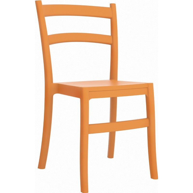 Tiffany Cafe Outdoor Restaurant Dining Chair Orange