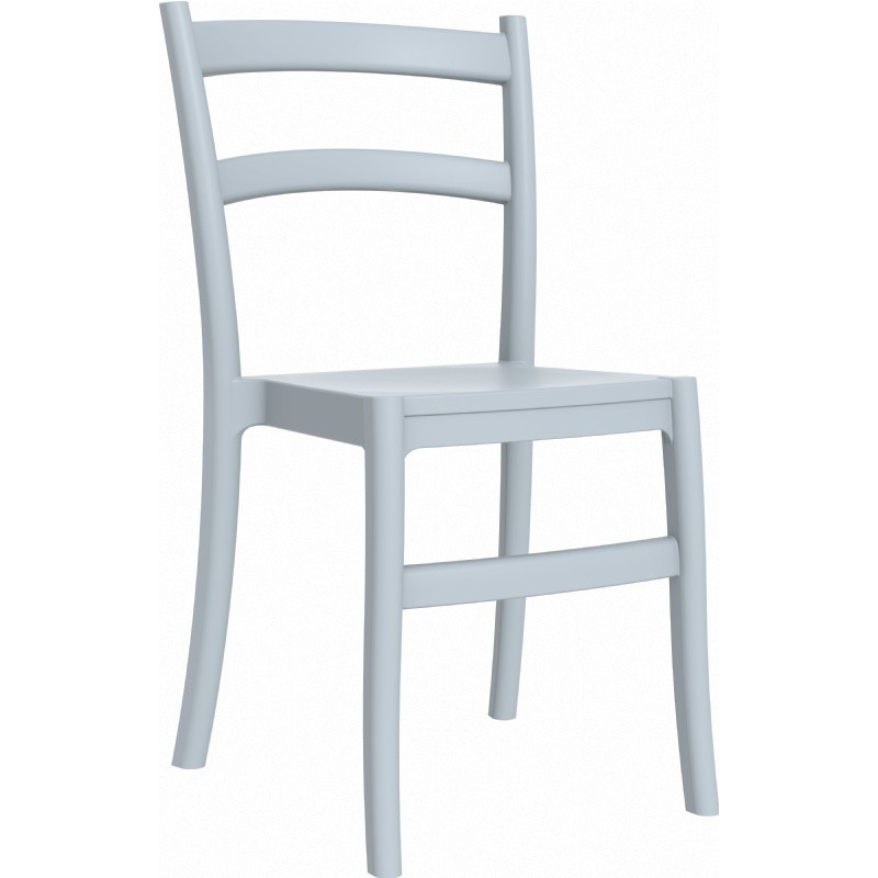 Tiffany Cafe Outdoor Restaurant Dining Chair Silver Grey