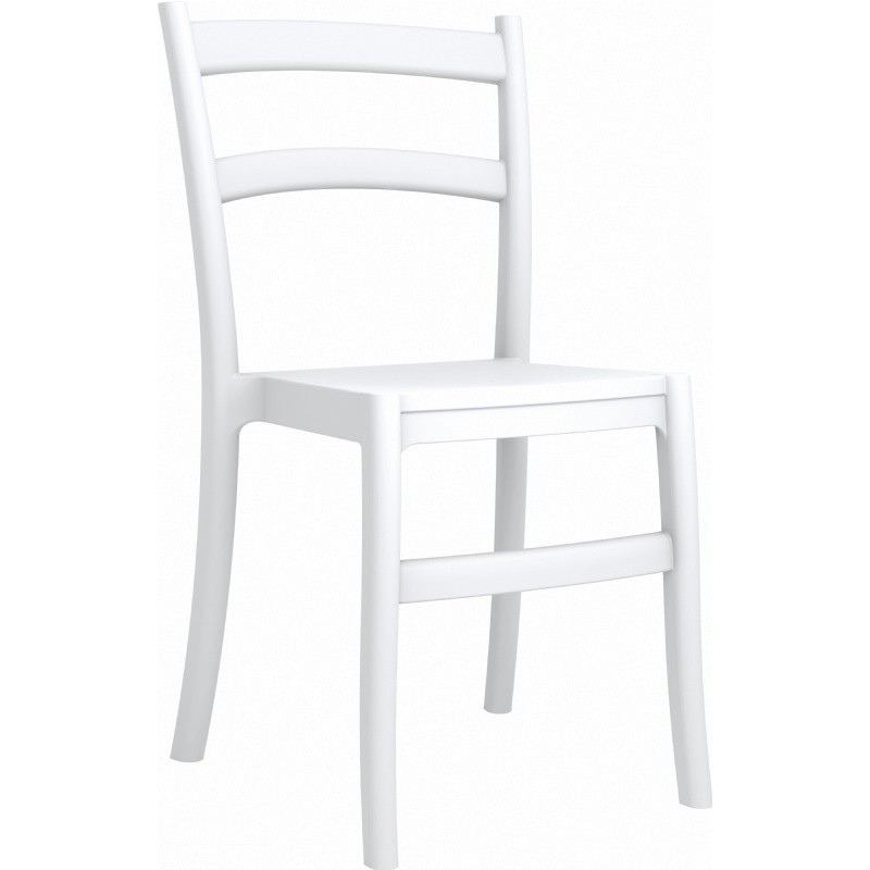 Tiffany Cafe Outdoor Restaurant Dining Chair White