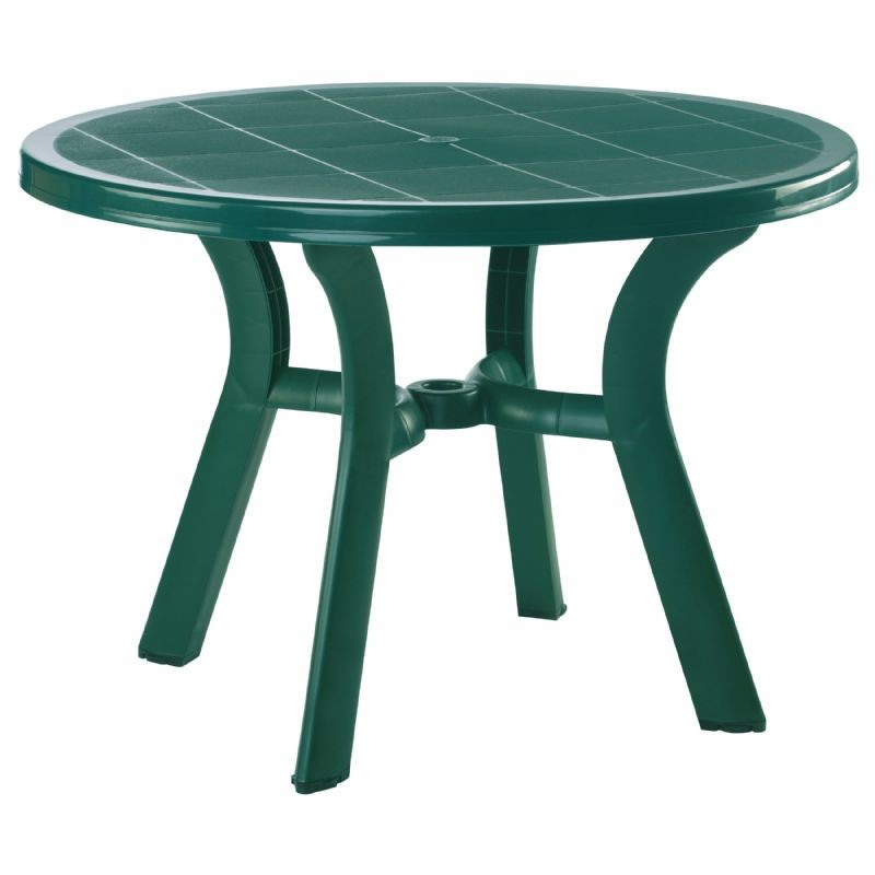 Siesta Truva Round Plastic Dining Table 42 inch - Dark Green