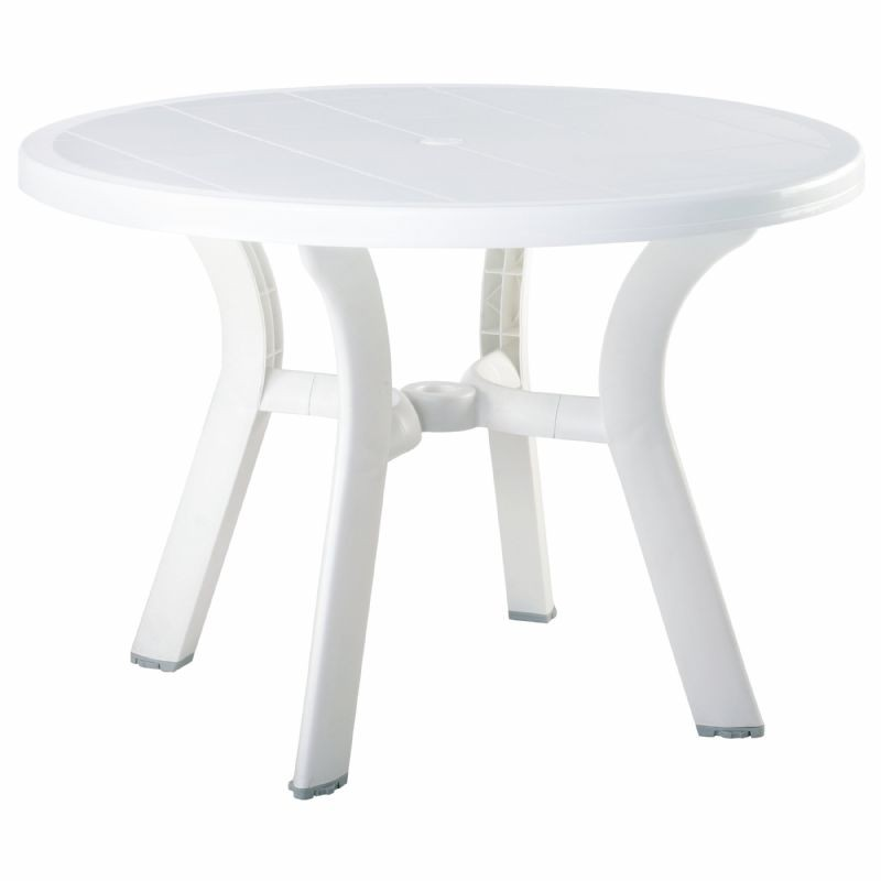 "Truva Resin Table 42"" Round : Plastic Outdoor Tables"