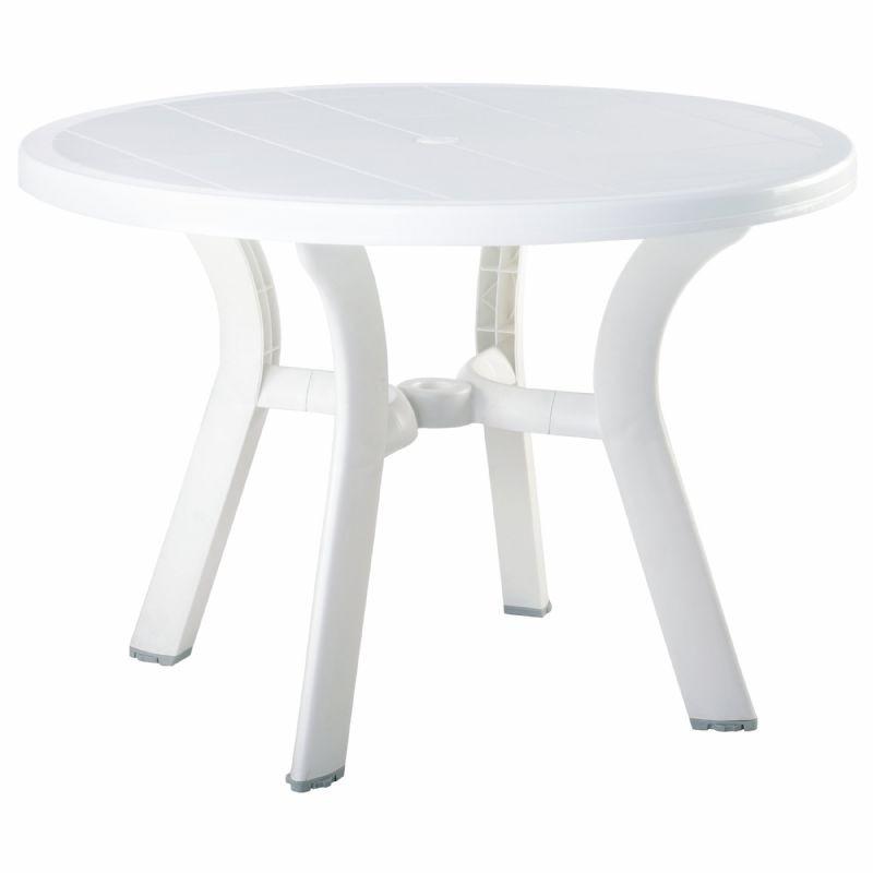 Plastic Dining Tables Siesta Truva Round Plastic Dining Table 42