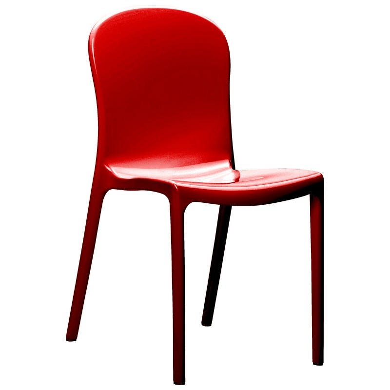 Victoria Glossy Patio Bistro Chair Red Isp033