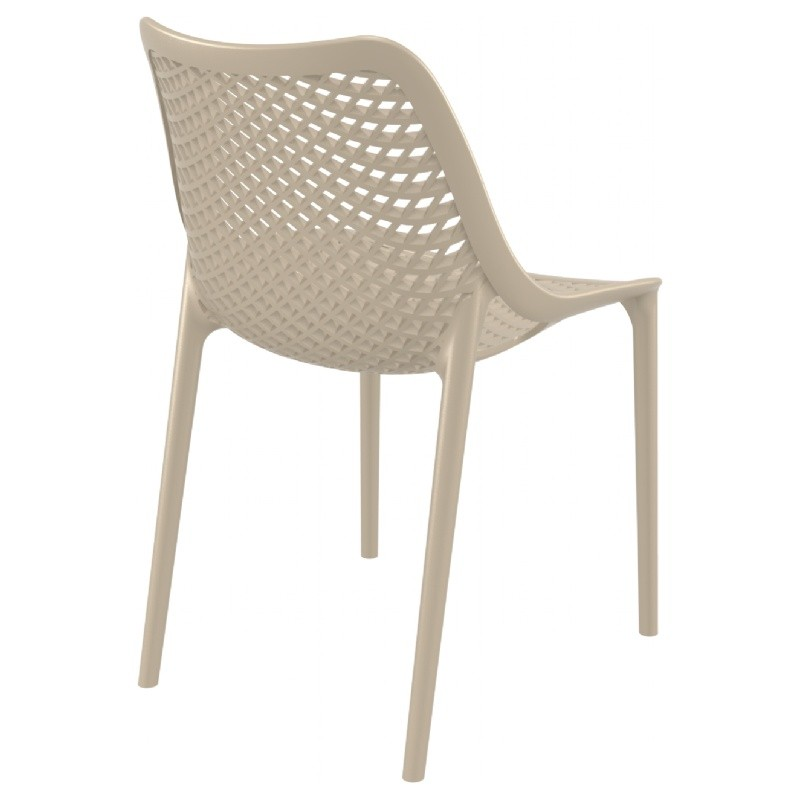 Air Outdoor Dining Chair Dove Gray ISP014-DVR