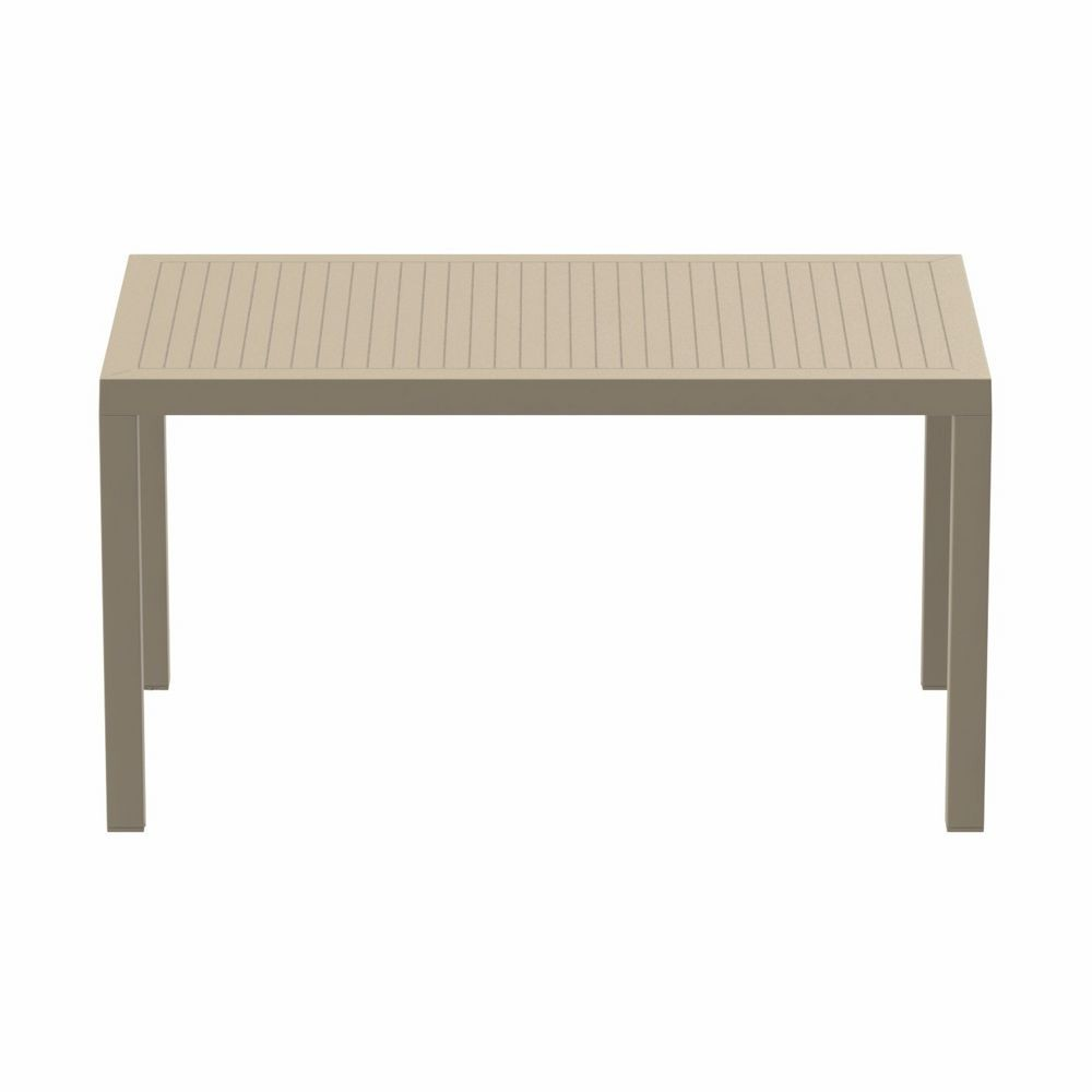 Ares Rectangle Outdoor Dining Table 55 inch Dove Gray ISP186-DVR