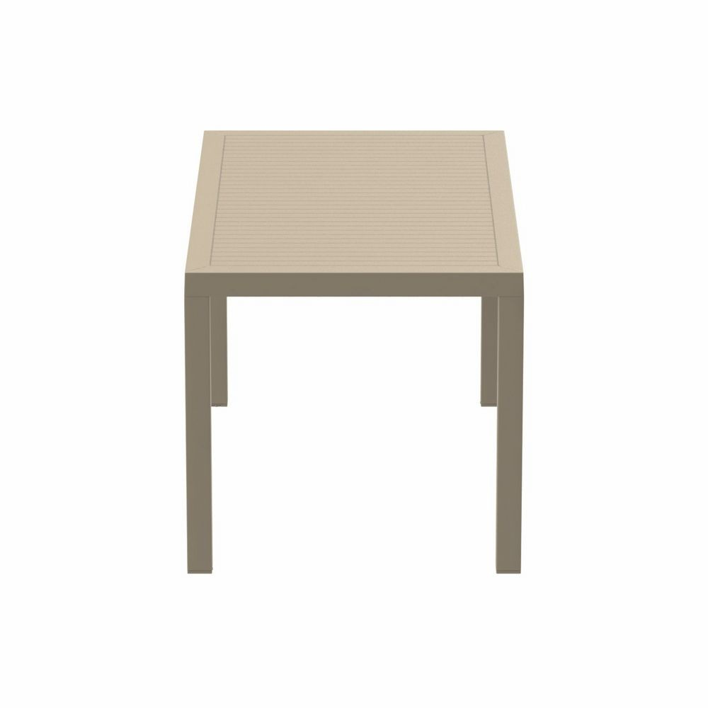 Ares Rectangle Outdoor Dining Table 55 inch Dove Gray ISP186-DVR #3