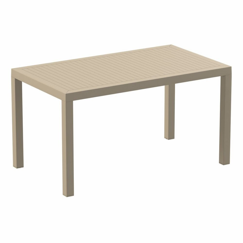Ares Rectangle Outdoor Dining Table 55 inch Dove Gray ISP186