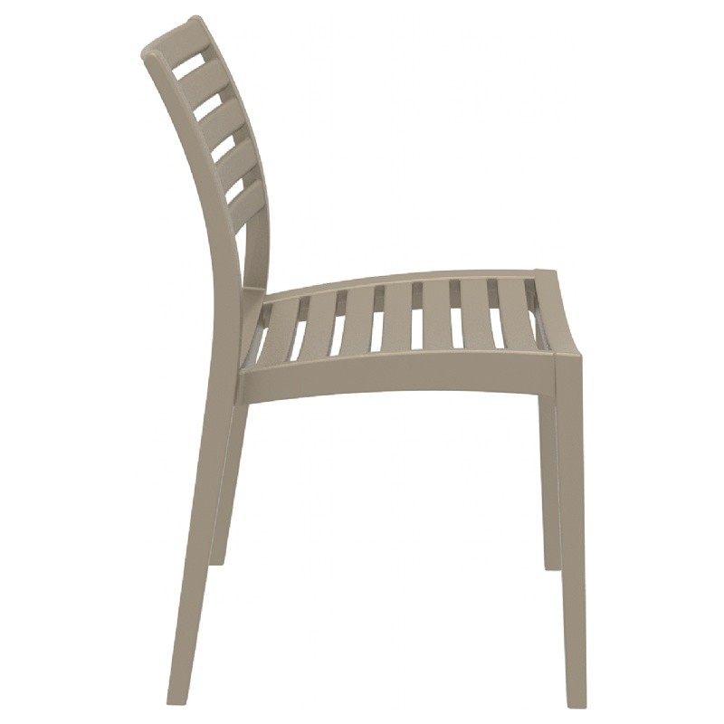 Ares Resin Outdoor Dining Chair Dove Gray ISP009-DVR #2