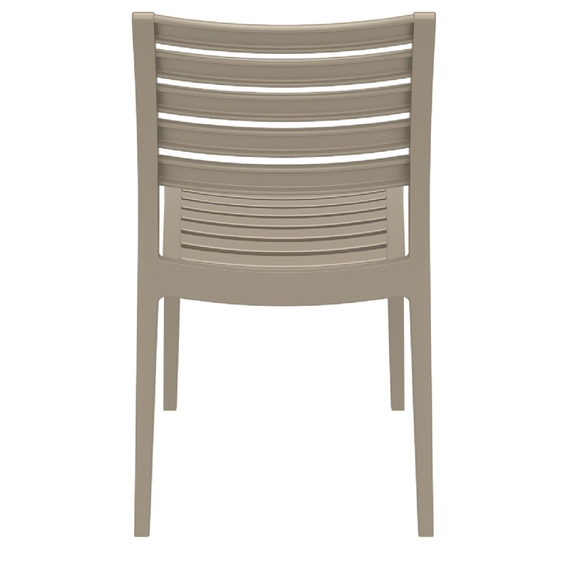 Ares Resin Outdoor Dining Chair Dove Gray ISP009-DVR #3