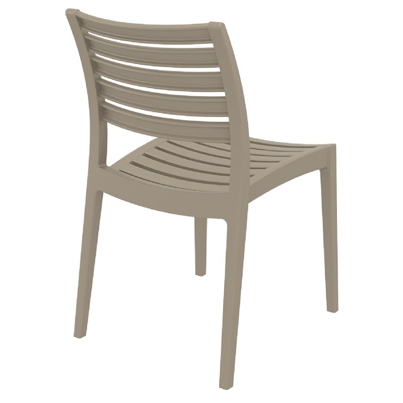 Ares Resin Outdoor Dining Chair Dove Gray ISP009-DVR #4