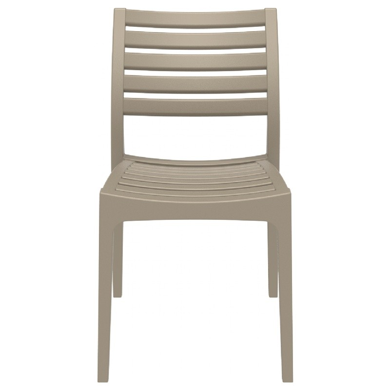 Ares Resin Outdoor Dining Chair Dove Gray ISP009-DVR #5