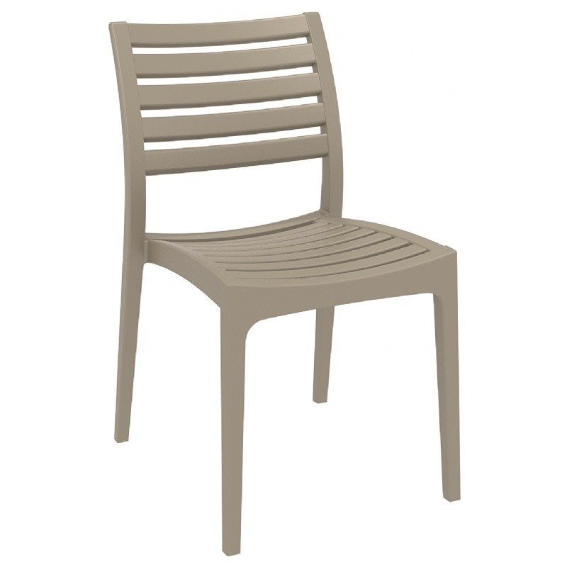 Ares Resin Outdoor Dining Chair Dove Gray ISP009