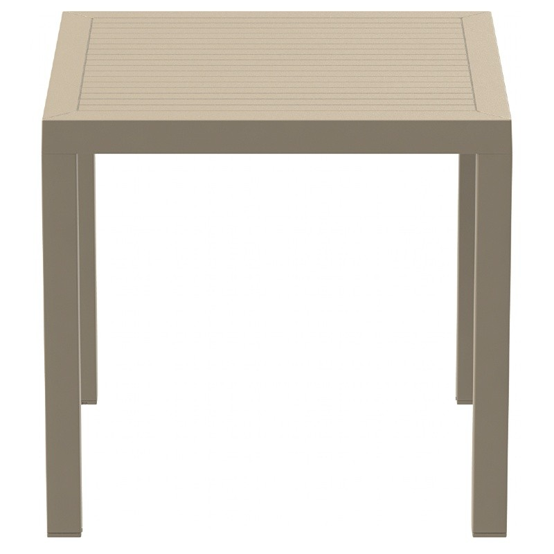 Ares Resin Outdoor Dining Table 31 inch Square Dove Gray ISP164-DVR