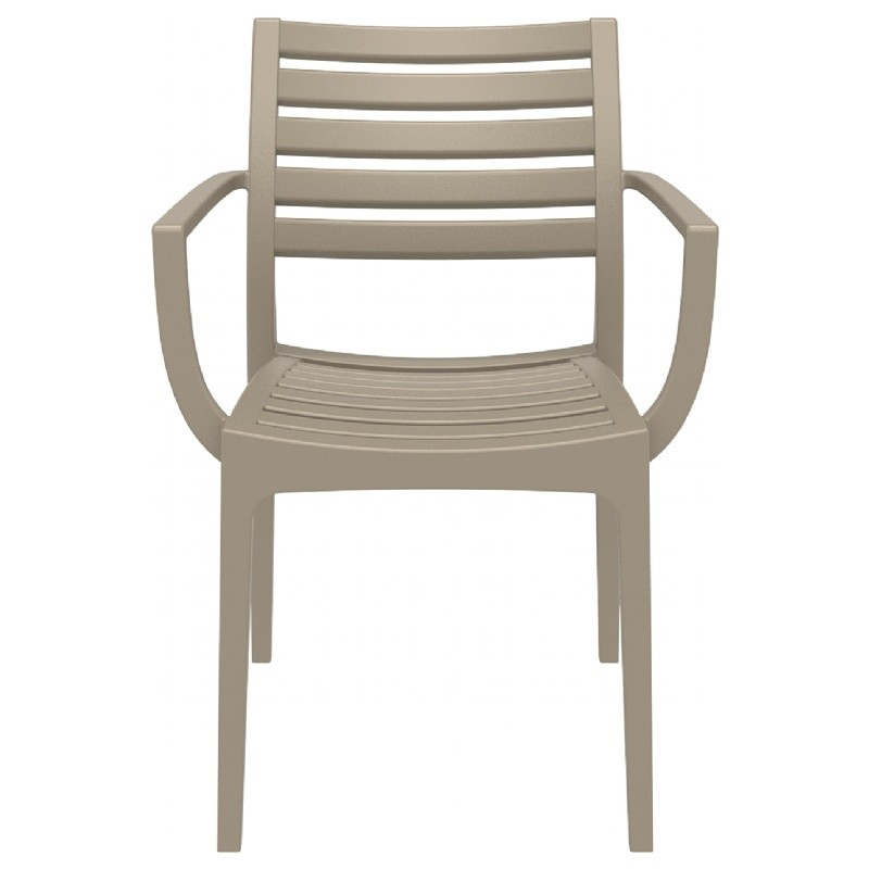 Artemis Resin Outdoor Dining Arm Chair Dove Gray ISP011