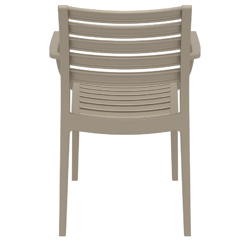 Artemis Resin Outdoor Dining Arm Chair Dove Gray ISP011-DVR #4