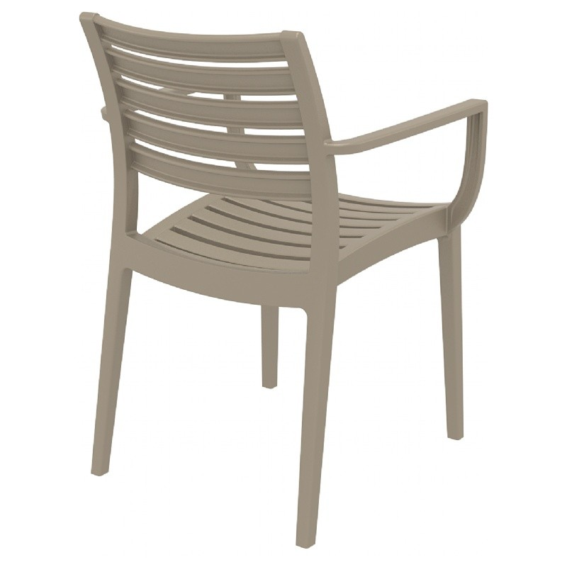 Artemis Resin Outdoor Dining Arm Chair Dove Gray ISP011-DVR #5