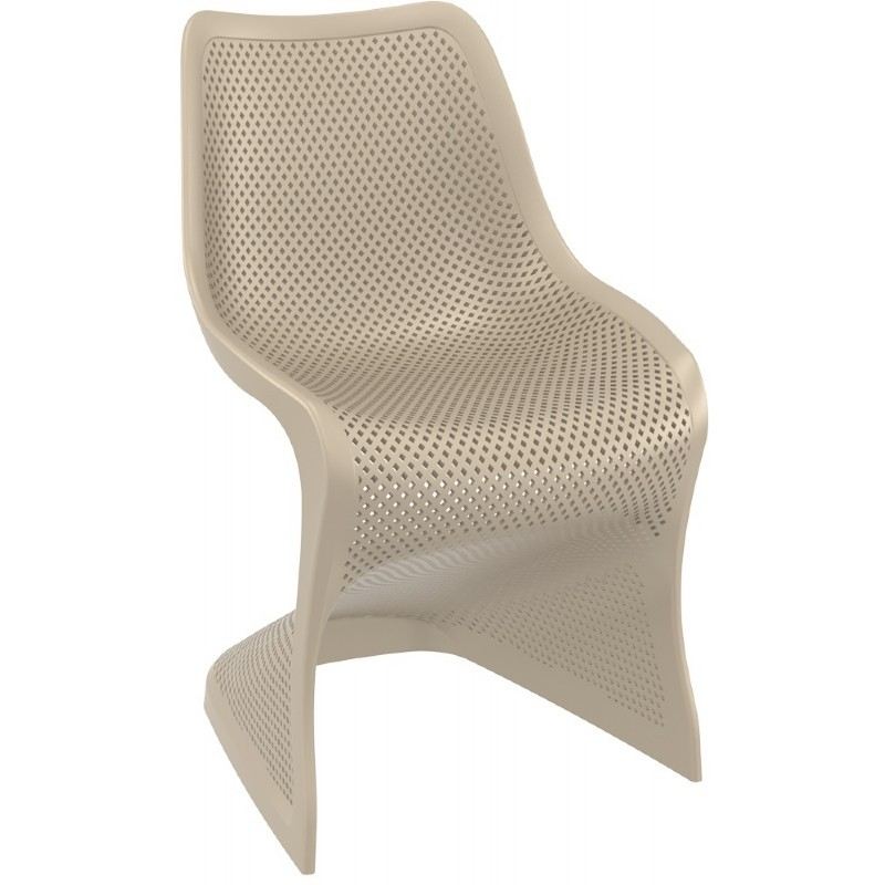 Bloom Contemporary Dining Chair Dove Gray ISP048-DVR