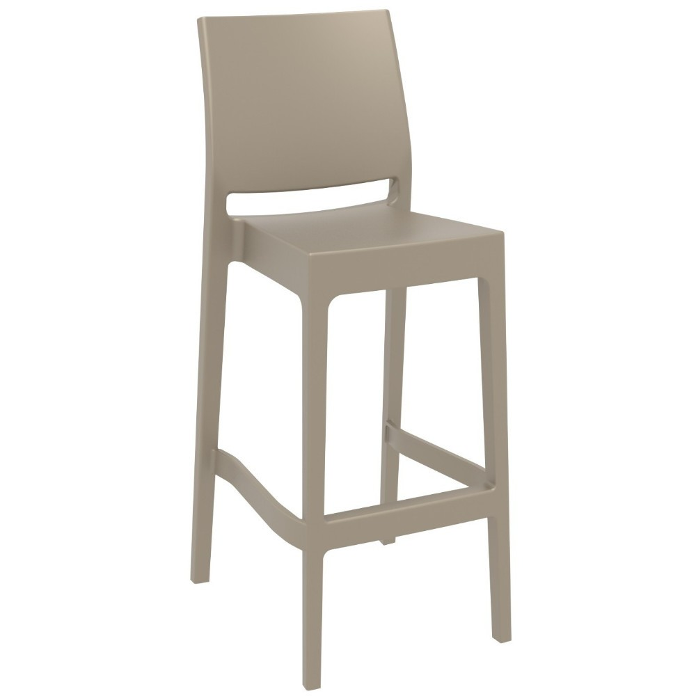 Maya Outdoor Barstool Dove Gray ISP099