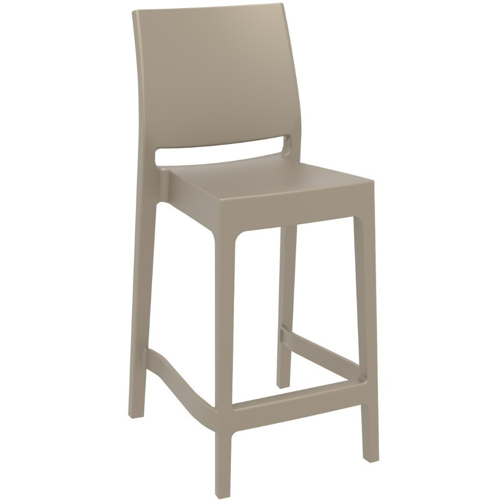 Maya Outdoor Counter Stool Dove Gray ISP100