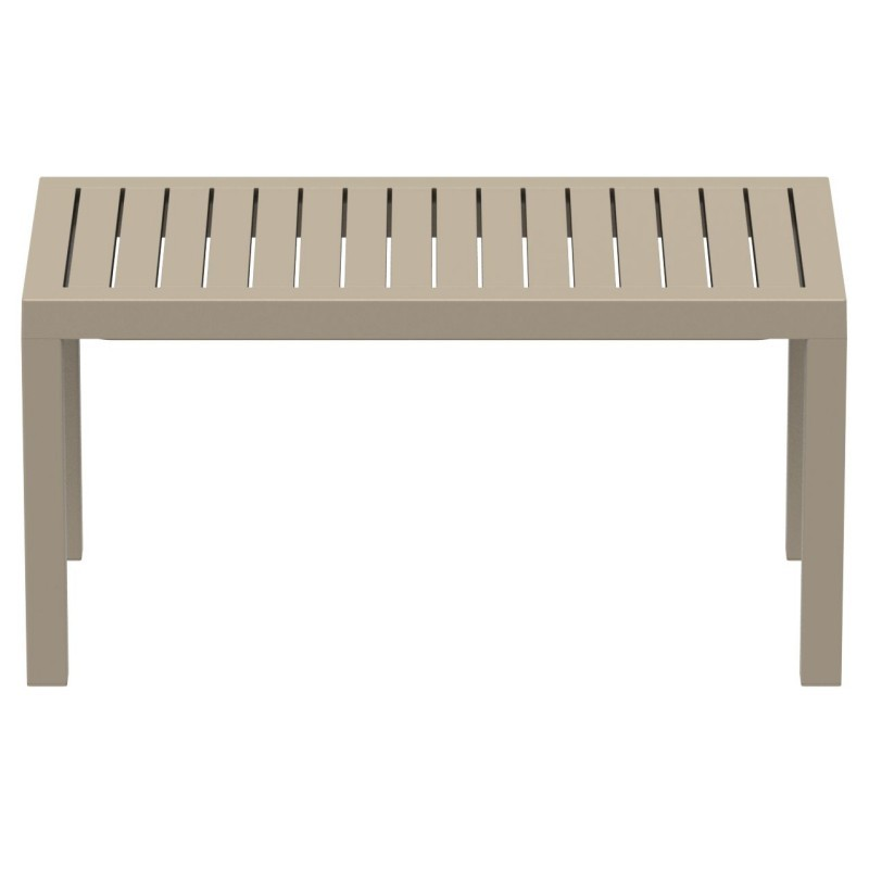 Ocean Rectangle Resin Outdoor Coffee Table Dove Gray ISP069-DVR