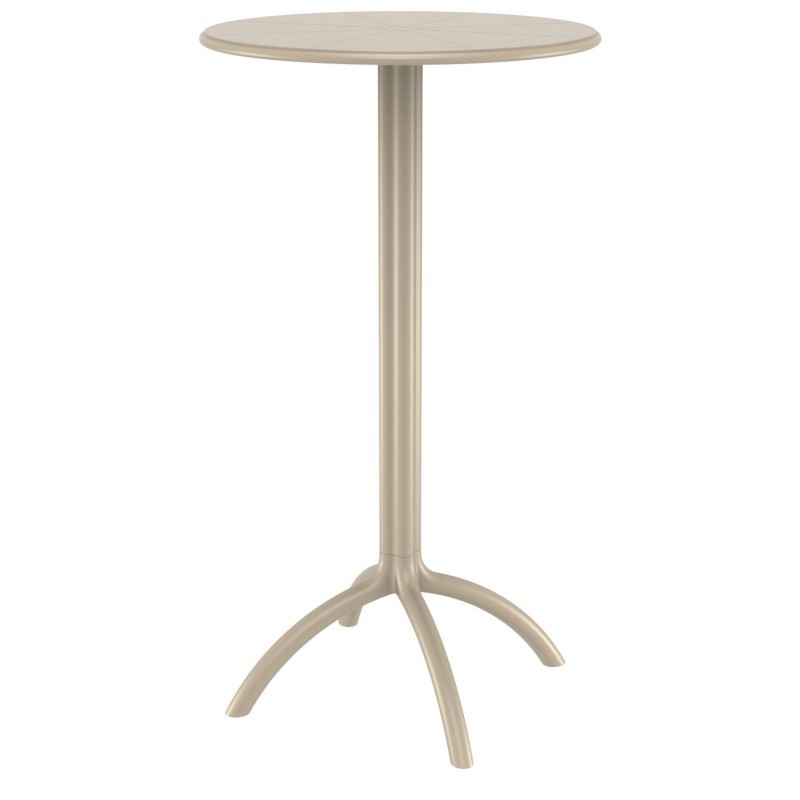Octopus Resin Bar Table 24 inch Round Dove Gray ISP161