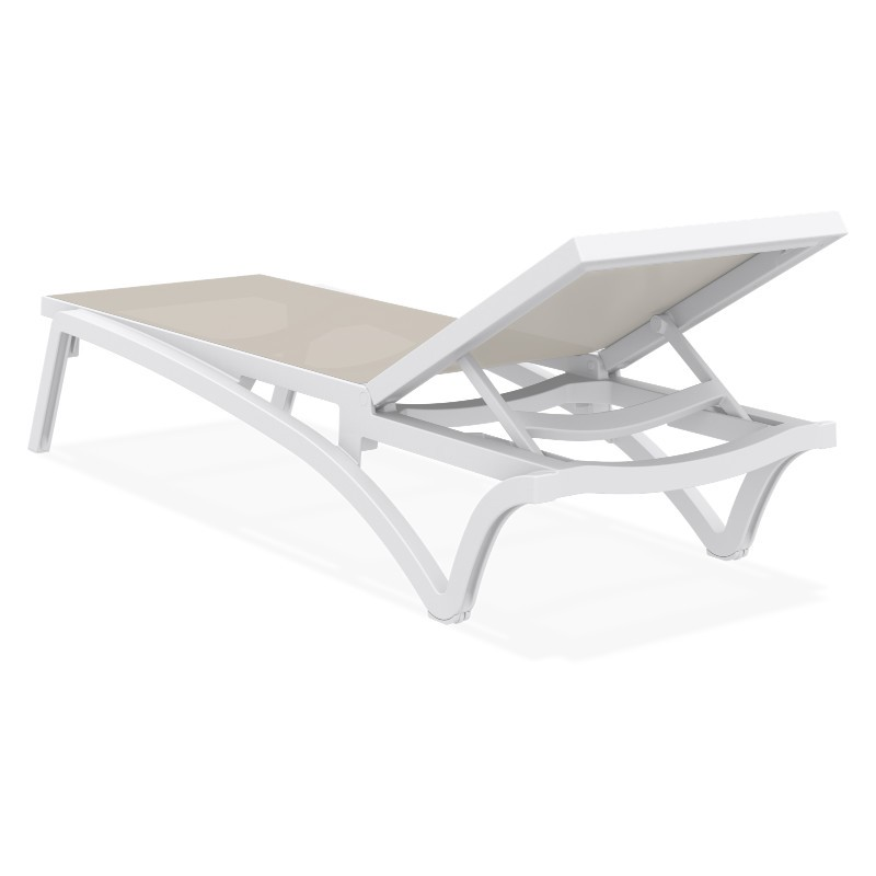 Pacific 3-pc Stacking Chaise Lounge Set White - Dove Gray ISP0893S
