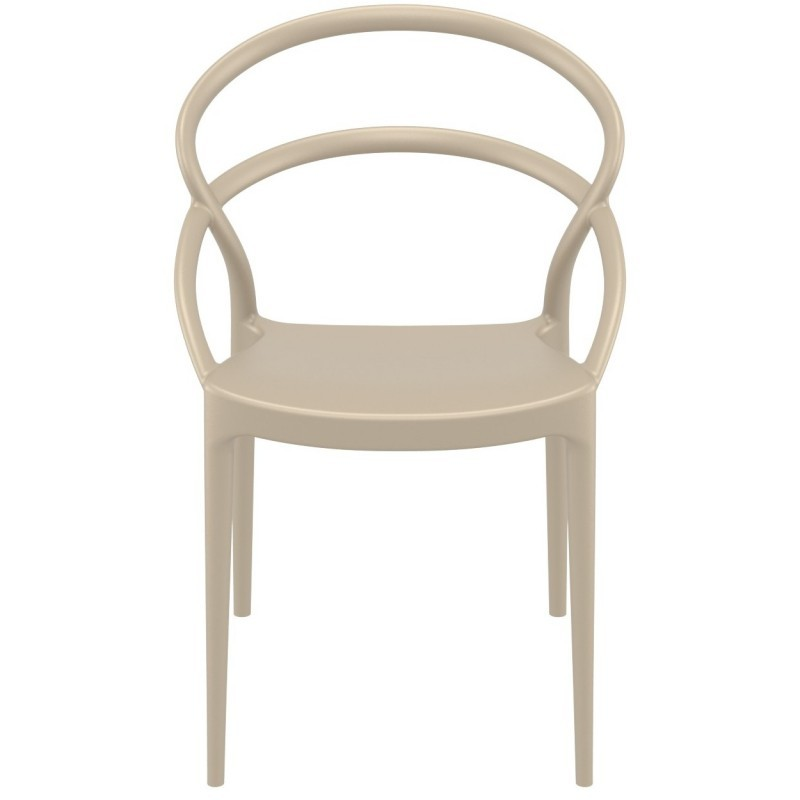 Pia Outdoor Dining Chair Dove Gray ISP086-DVR #4