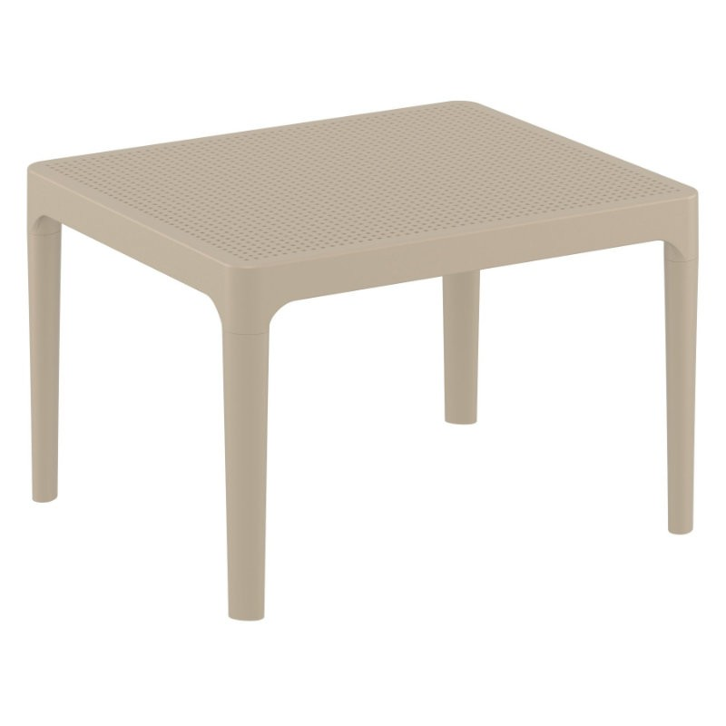 Sky Resin Outdoor Side Table Dove Gray ISP109