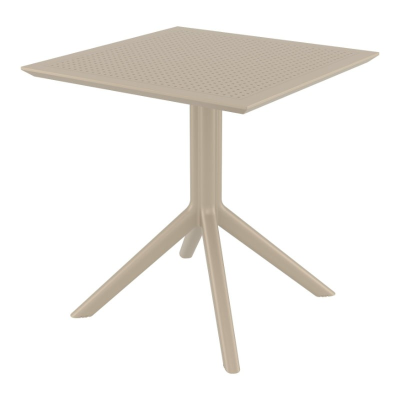Sky Square Outdoor Dining Table 27 inch Dove Gray ISP108