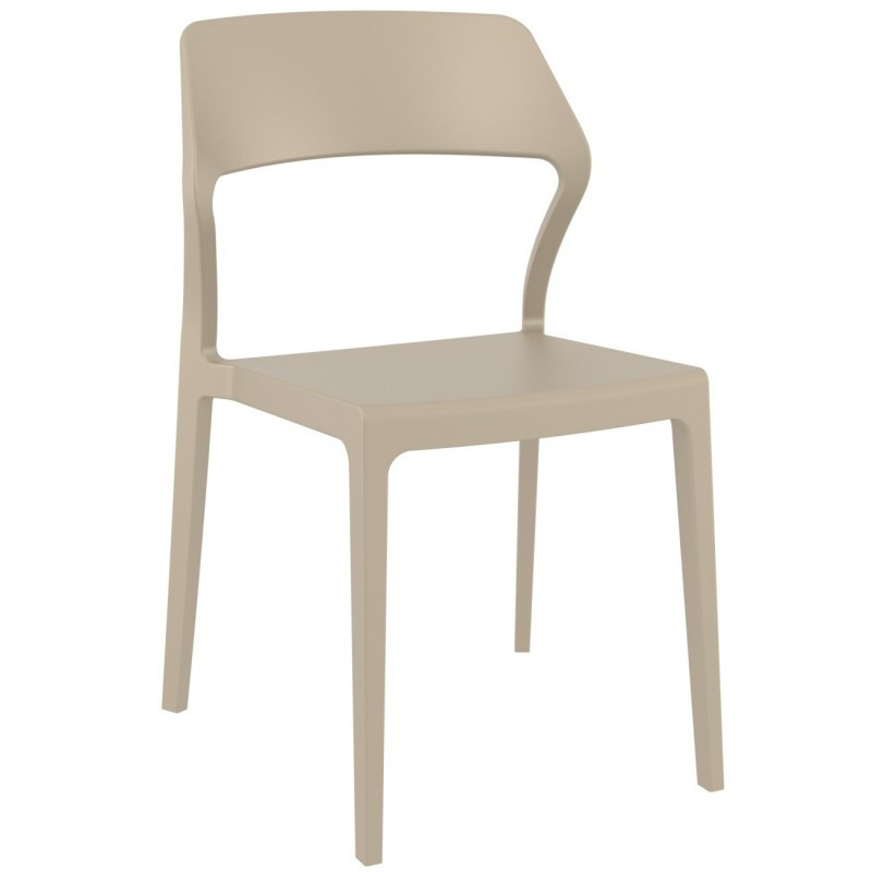 Snow Modern Dining Chair Dove Gray ISP092-DVR