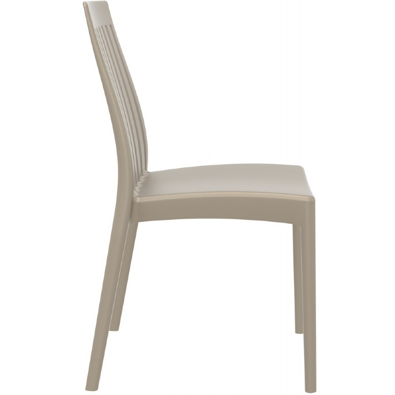 Soho Modern High-Back Dining Chair Dove Gray ISP054-DVR