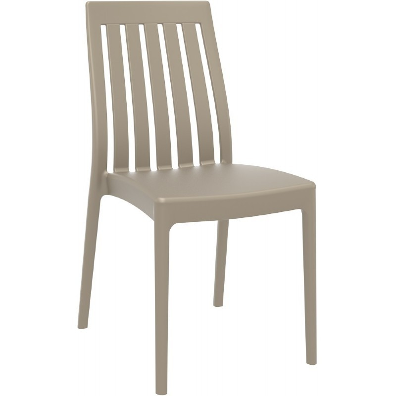 Soho Modern High-Back Dining Chair Dove Gray ISP054