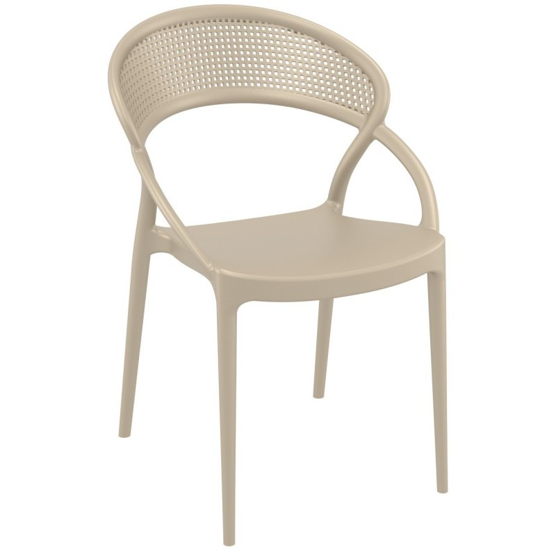 Sunset Outdoor Dining Chair Dove Gray ISP088