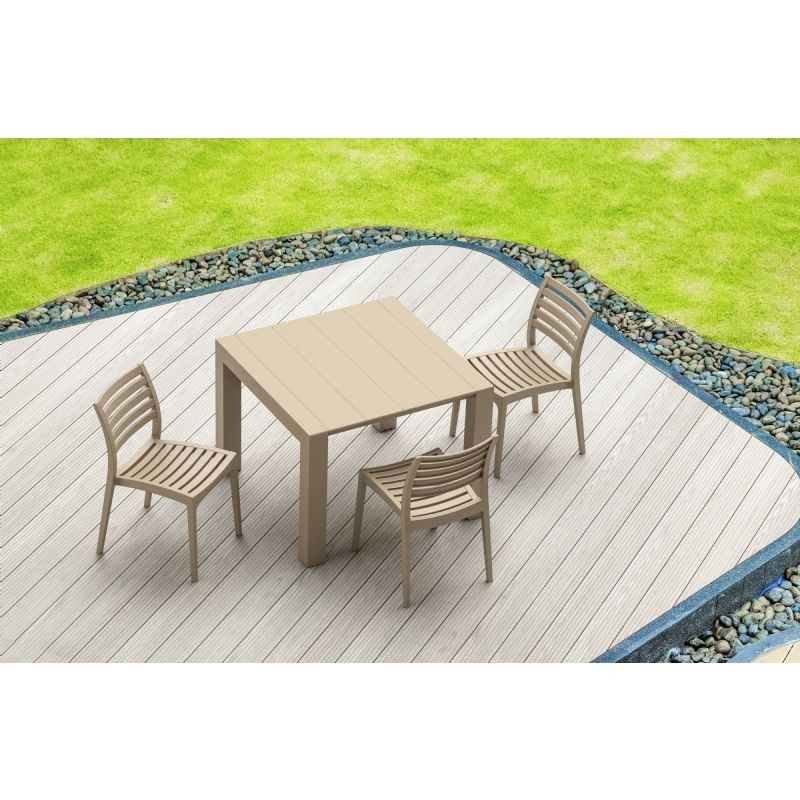 Vegas Patio Dining Table Extendable from 39 to 55 inch Dove Gray ISP772-DVR #5