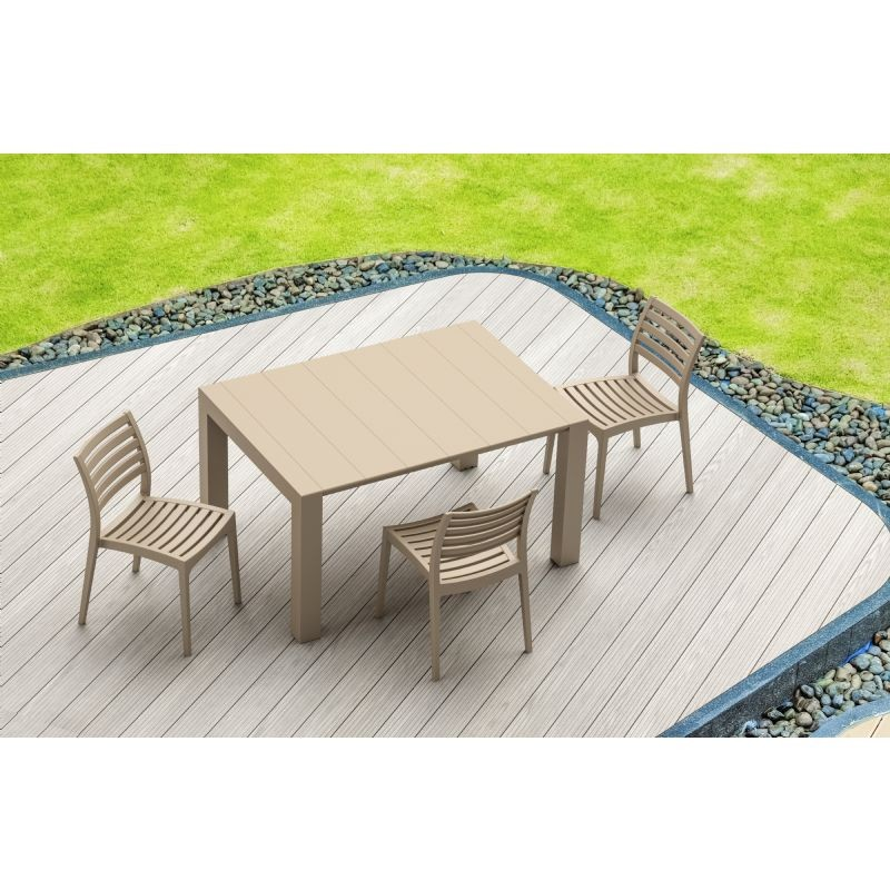 Vegas Patio Dining Table Extendable from 39 to 55 inch Dove Gray ISP772-DVR #6