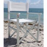 Nanni Folding Directors Chair with Arms Aluminum - White NU-DCA