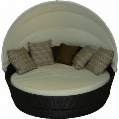 Jaavan Round Outdoor Daybed with Canopy JA-118