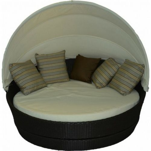 Jaavan Round Outdoor Daybed With Canopy Ja 118