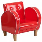 Red Kids Chair in Vinyl HR-14-GG